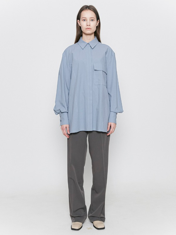One Pocket Shirts Pastel Blue