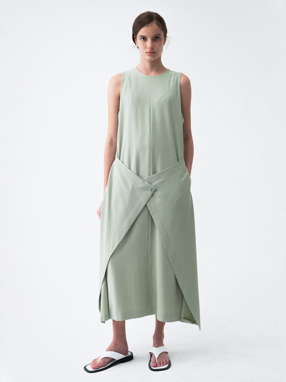 Wrap Sleeveless Dress Mint