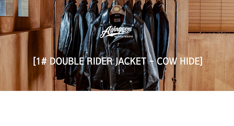 에이징씨씨씨(AGINGCCC) AGINGCCCX18HOUR DOUBLE RIDER JACKET-COW HIDE