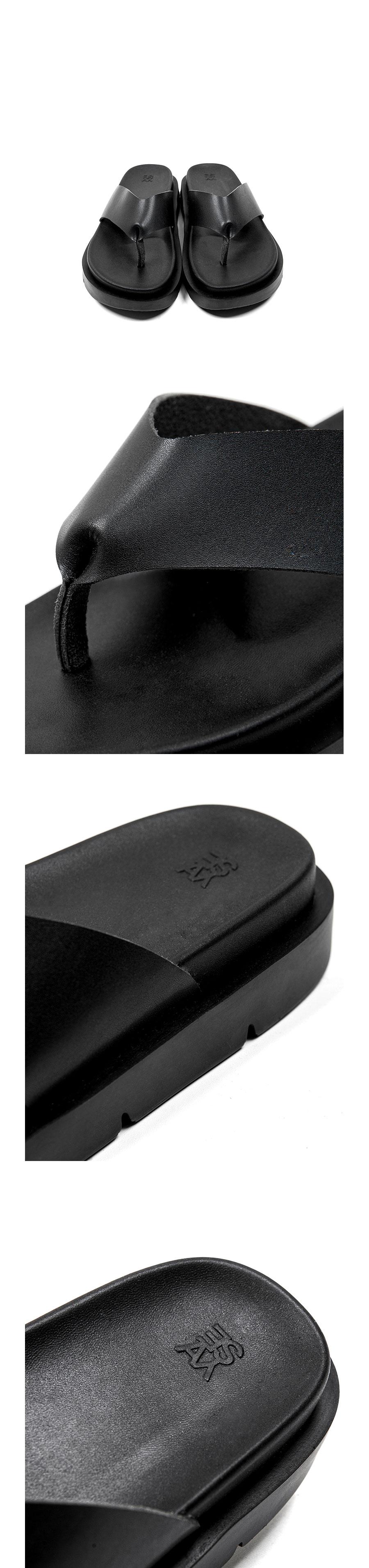 야세(YASE) 선셋 슬라이드 레더 블랙 553